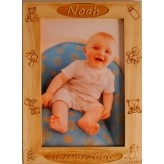 Cadre personnalis pour  photo en bois grav au laser anniversaire bapteme cadeau de naissance