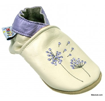 Chaussons cuir souple Pappus