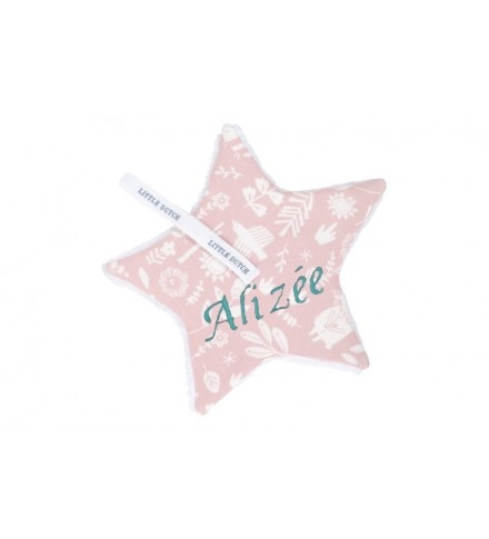 Attache tétine Etoile Rose little dutch