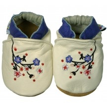 Chaussons cuir souples id-baby Sakura